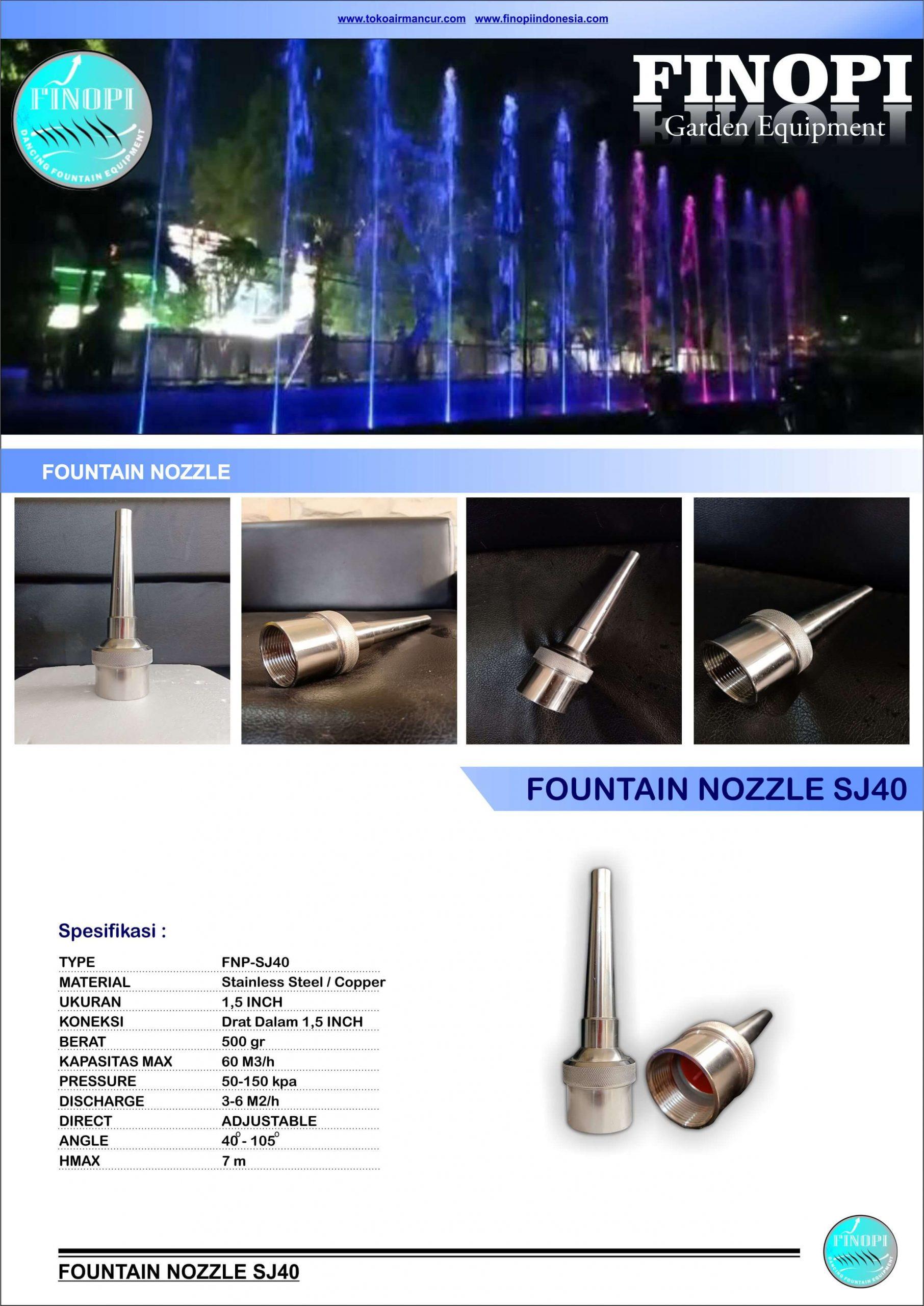 brosur nozzle air mancur
