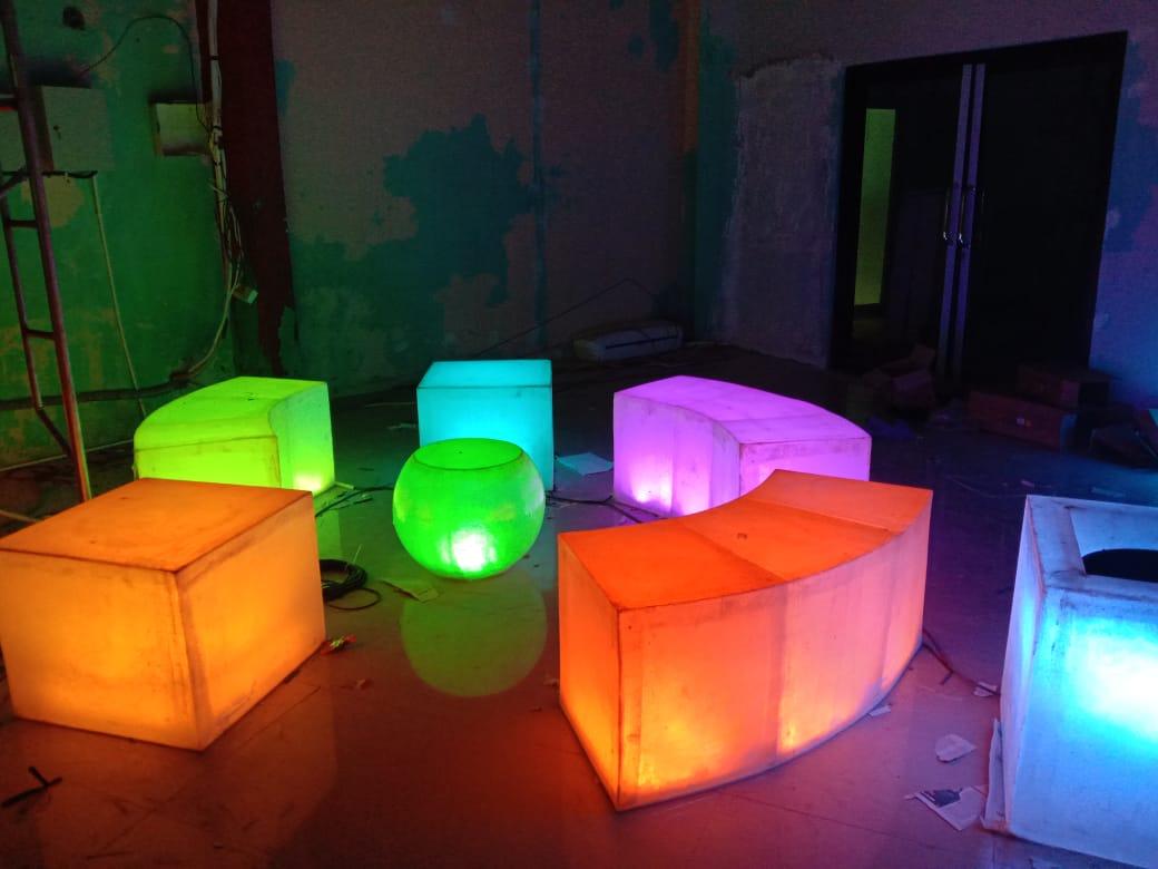 Garden led chair inovatif